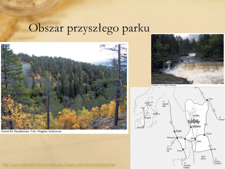 Obszar przyszłego parku http://www.villmark.info/no/index.php?page=velkommen/beliggenhet