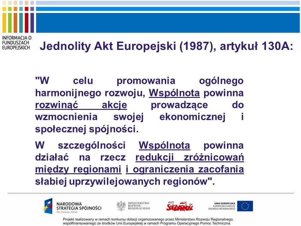 Jednolity Akt Europejski (1987), artykuł 130A: