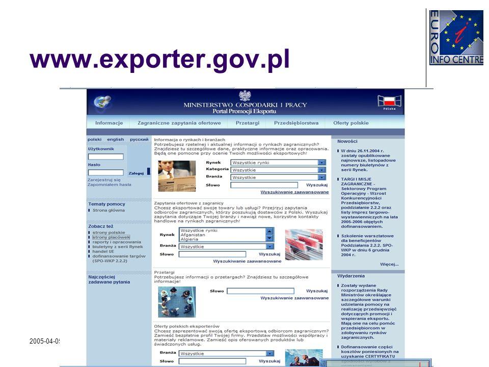 2005-04-05Akademickie Dni Pracy www.exporter.gov.pl