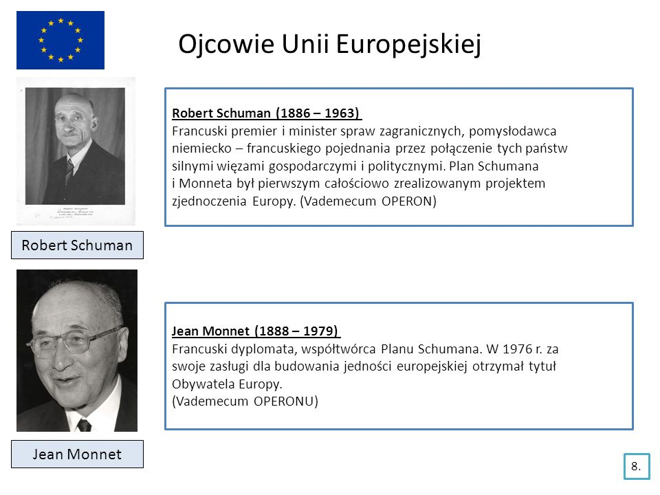 Instytucje Unii Europejskiej Komisja Europejska (KE) Siedziba – Bruksela Skład: 27 komisarzy wybieranych co 5 lat; każdy kieruje innym resortem UE, każdy z komisarzy pochodzi z innego kraju ale reprezentuje WYŁĄCZNIE interes UE, a nie kraju z którego pochodzi, Przewodniczącym Komisji Europejskiej jest José Manuel Barroso Kompetencje: główny organ wykonawczy UE, wykonuje uchwały stanowione przez Radę Unii Europejskiej, posiada wyłączne prawo inicjatywy ustawodawczej – tylko Komisja Europejska inicjuje proces legislacyjny w UE opracowując projekty aktów prawnych, które przedstawia Radzie Unii Europejskiej i Parlamentowi Europejskiemu kontroluje wykonanie budżetu UE reprezentuje UE w stosunkach z państwami spoza UE oraz z organizacjami międzynarodowymi.