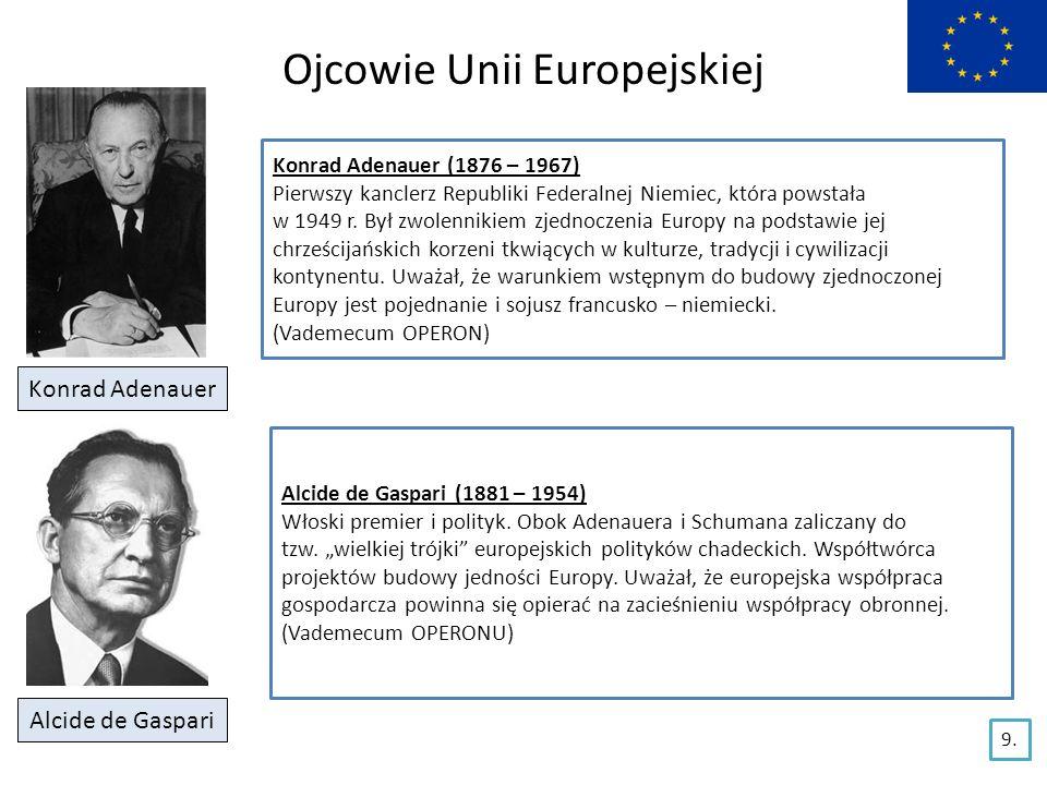Ojcowie Unii Europejskiej Paul Henri Spaak Paul Henri Spaak (1899 – 1872) Belgijski polityk, socjalista.
