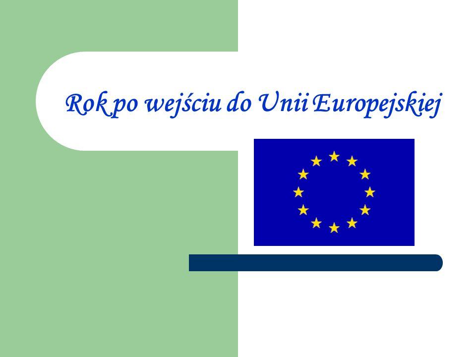 Rok po wejściu do UE był czasem poprawy w polskiej gospodarce - uważają ekonomiści.