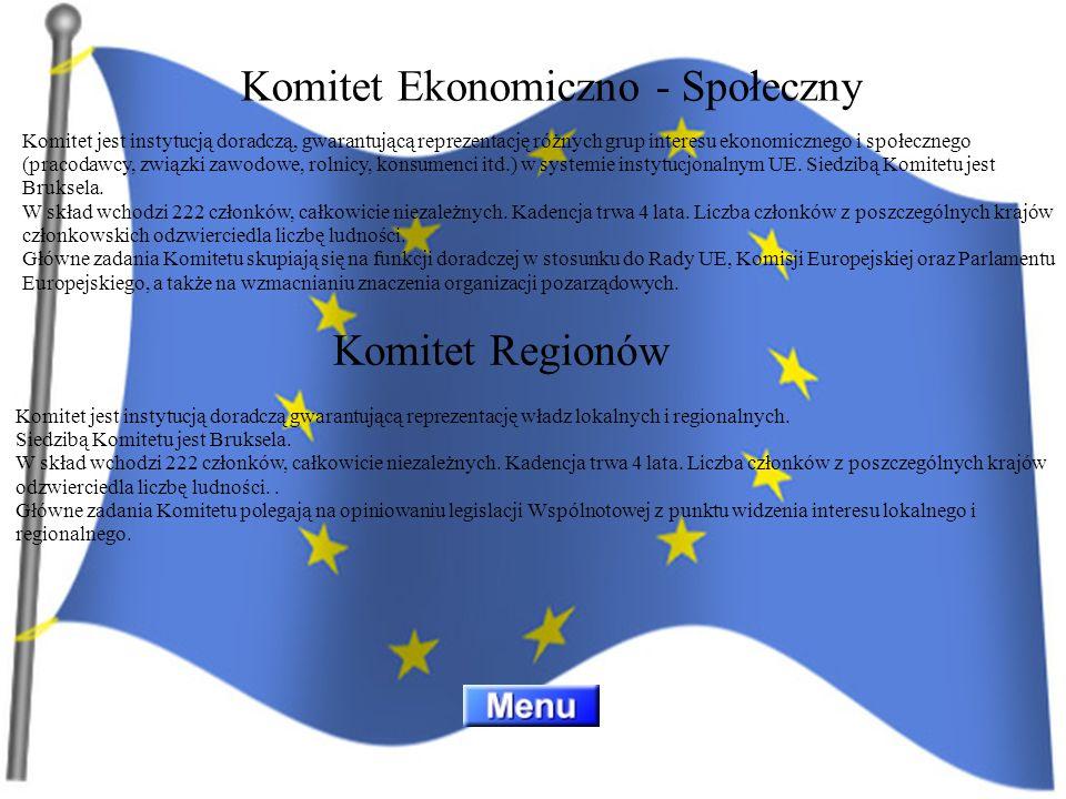 Komitet jest instytucją doradczą, gwarantującą reprezentację różnych grup interesu ekonomicznego i społecznego (pracodawcy, związki zawodowe, rolnicy,