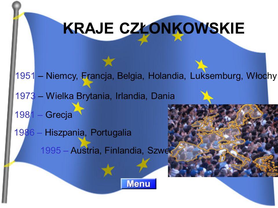 1973 – Wielka Brytania, Irlandia, Dania 1981 – Grecja 1986 – Hiszpania, Portugalia 1995 – Austria, Finlandia, Szwecja 1951 – Niemcy, Francja, Belgia,