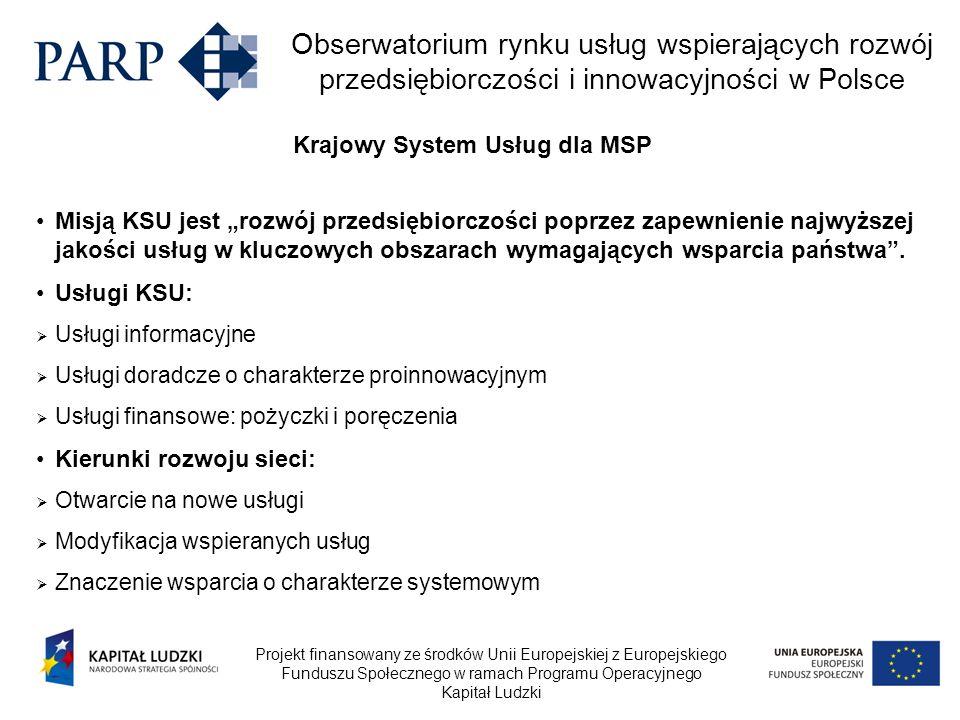 Projekt finansowany ze środków Unii Europejskiej z Europejskiego Funduszu Społecznego w ramach Programu Operacyjnego Kapitał Ludzki Obserwatorium rynk