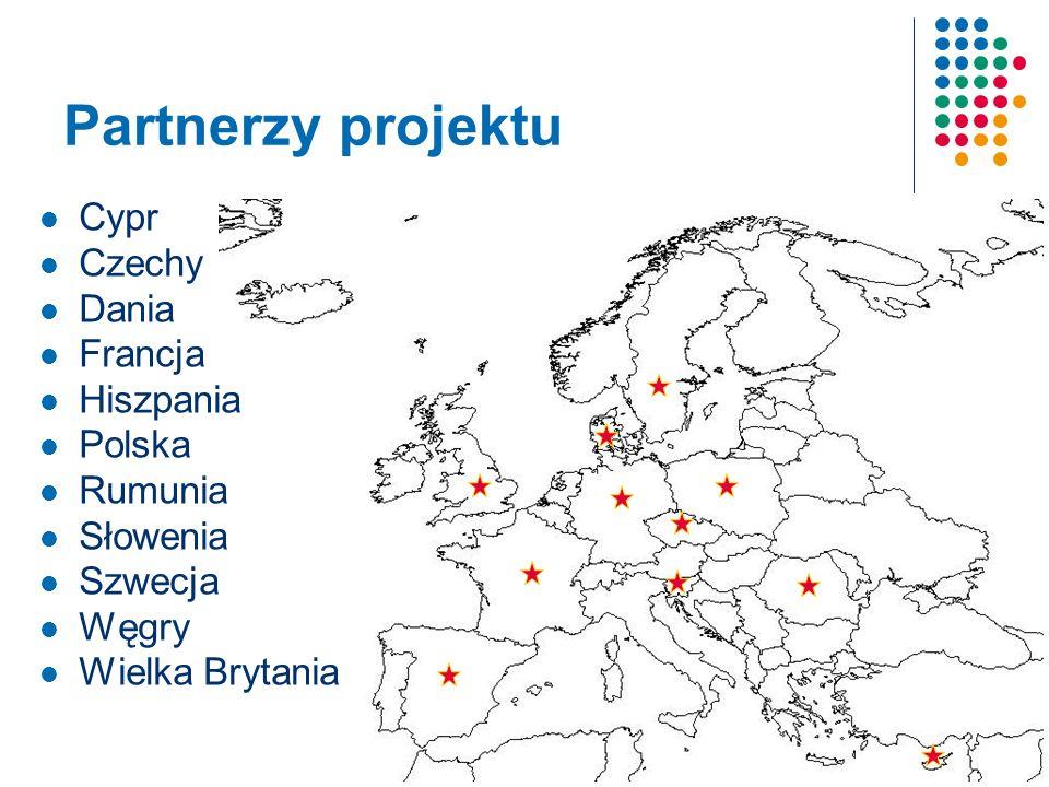 Partnerzy projektu Cypr Czechy Dania Francja Hiszpania Polska Rumunia Słowenia Szwecja Węgry Wielka Brytania