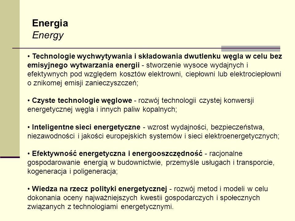 Energia Energy Technologie wychwytywania i składowania dwutlenku węgla w celu bez emisyjnego wytwarzania energii - stworzenie wysoce wydajnych i efekt