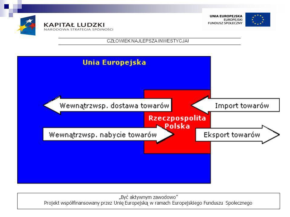 CZŁOWIEK NAJLEPSZA INWESTYCJA! Być aktywnym zawodowo Projekt współfinansowany przez Unię Europejską w ramach Europejskiego Funduszu Społecznego