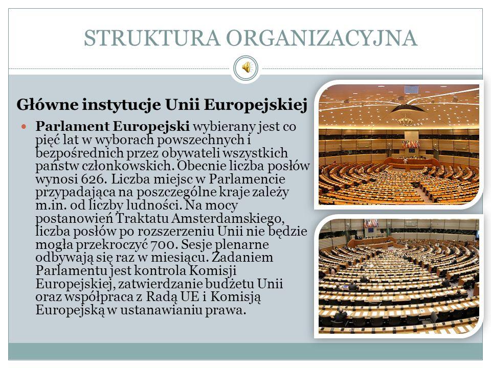 STRUKTURA ORGANIZACYJNA Parlament Europejski wybierany jest co pięć lat w wyborach powszechnych i bezpośrednich przez obywateli wszystkich państw czło