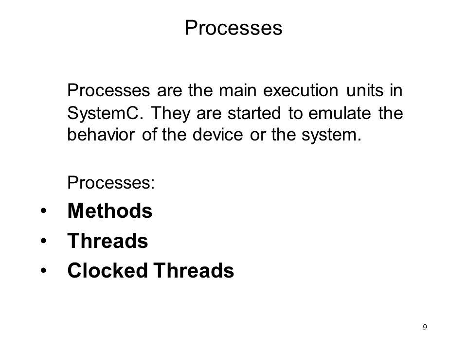 10 Procesy c.d.Procesy mogą zachowywać się jak funkcje (wykonanie i powrót).