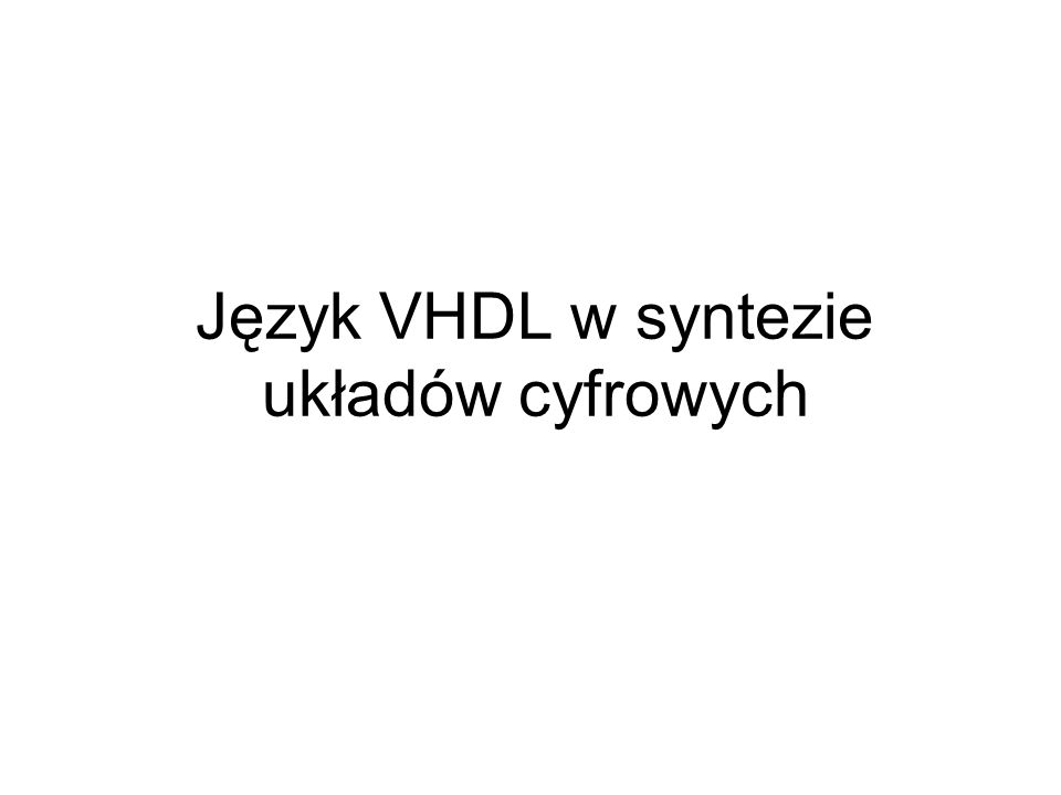 Układy programowalne CPLD