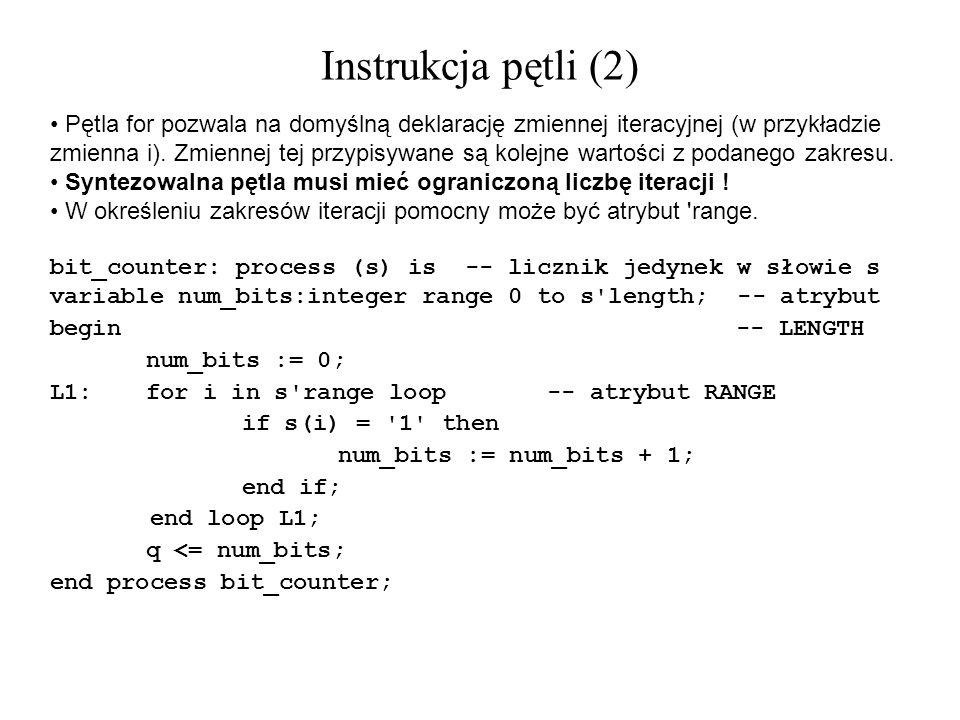 Pętla for pozwala na domyślną deklarację zmiennej iteracyjnej (w przykładzie zmienna i). Zmiennej tej przypisywane są kolejne wartości z podanego zakr