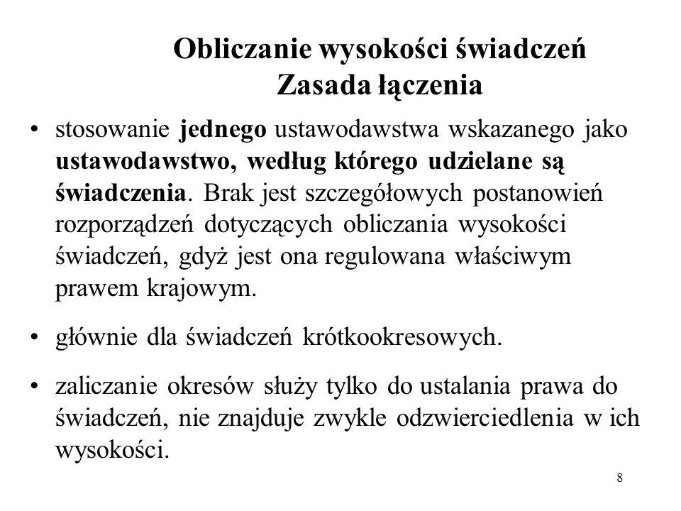 ZAŁĄCZNIK X SPECJALNE NIESKŁADKOWE ŚWIADCZENIA PIENIĘŻNE (art.