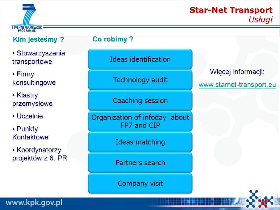 Star-Net Transport Usługi Więcej informacji: www.starnet-transport.eu Stowarzyszenia transportowe Stowarzyszenia transportowe Firmy konsultingowe Firm