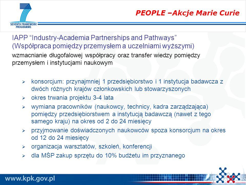 IAPP Industry-Academia Partnerships and Pathways (Współpraca pomiędzy przemysłem a uczelniami wyższymi) wzmacnianie długofalowej współpracy oraz trans