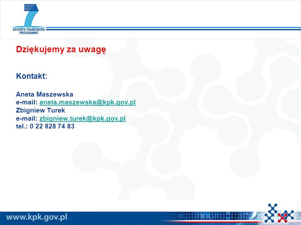 Dziękujemy za uwagę Kontakt: Aneta Maszewska e-mail: aneta.maszewska@kpk.gov.planeta.maszewska@kpk.gov.pl Zbigniew Turek e-mail: zbigniew.turek@kpk.go