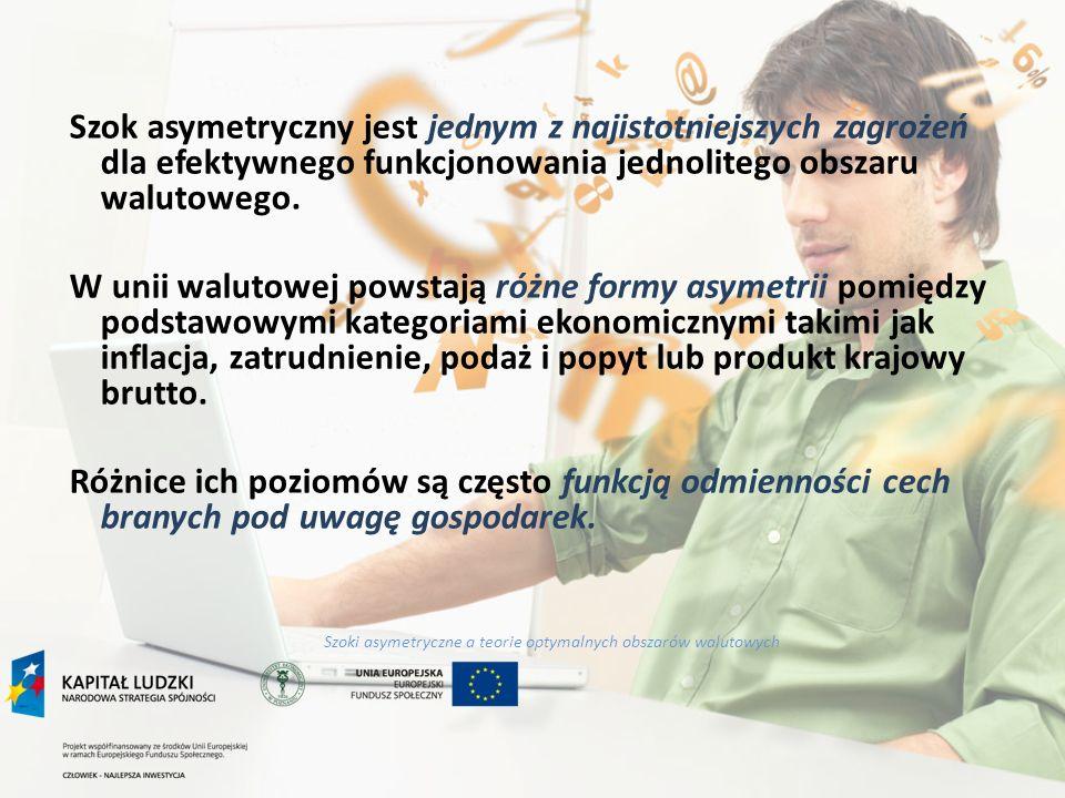 Szoki asymetryczne a teorie optymalnych obszarów walutowych Mobilność czynników produkcji pomiędzy krajami unii walutowej (koncepcja R.A.