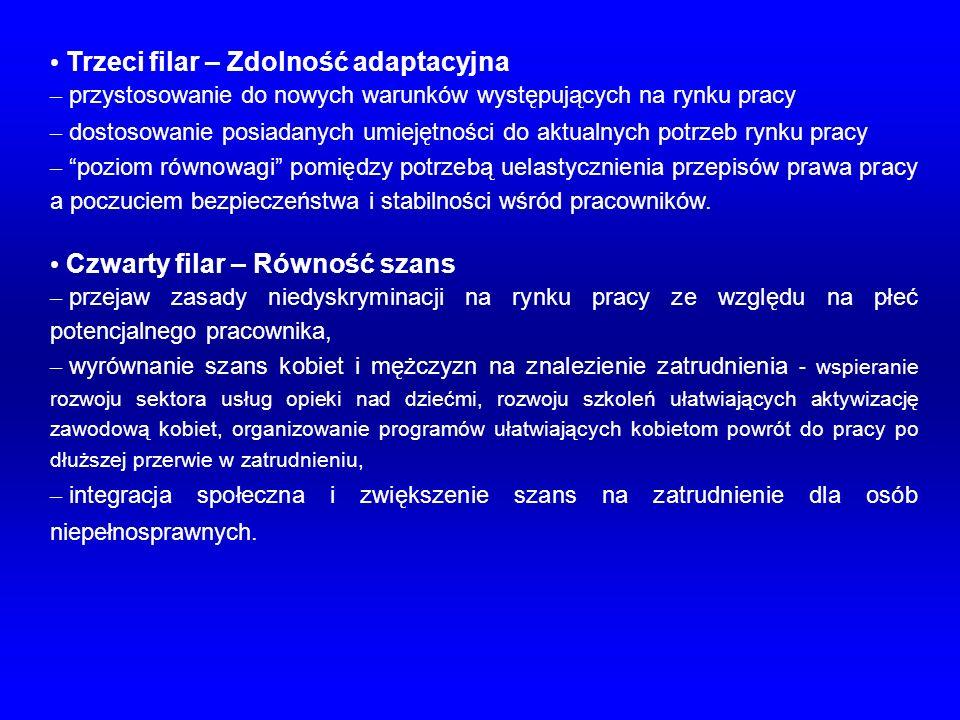 Trzeci filar – Zdolność adaptacyjna – przystosowanie do nowych warunków występujących na rynku pracy – dostosowanie posiadanych umiejętności do aktual