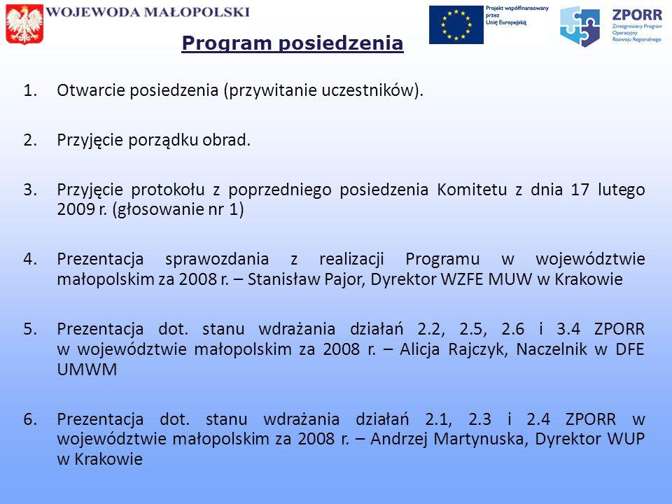 7.Podjęcie Uchwały w sprawie zatwierdzenia Sprawozdania z realizacji Programu ZPORR w woj.