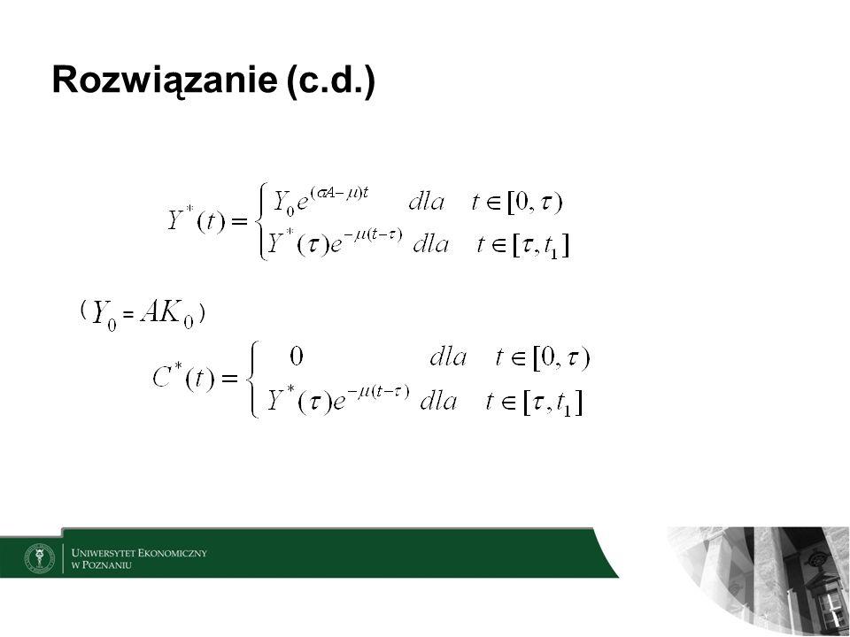 Rozwiązanie (c.d.) = ( )