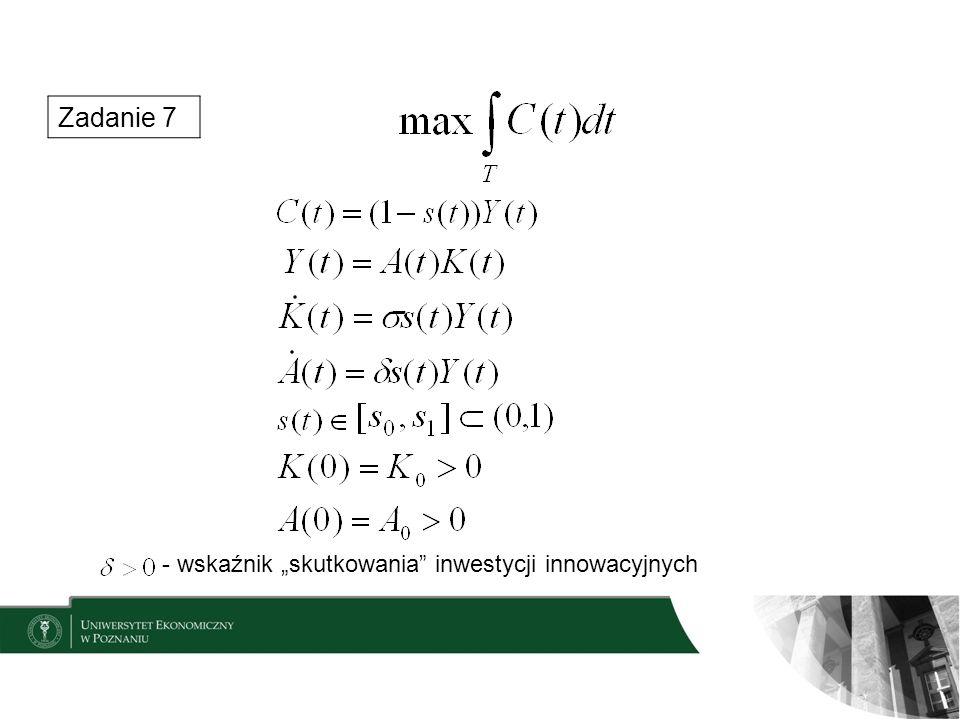 Zadanie 7 - wskaźnik skutkowania inwestycji innowacyjnych