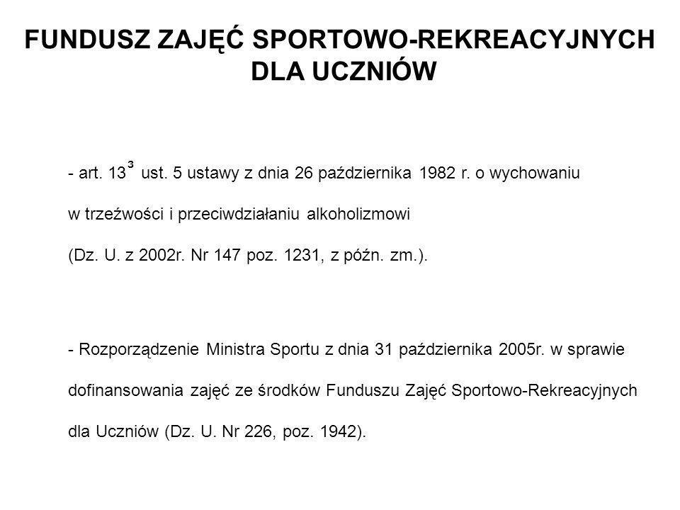 F Z S R U - stowarzyszenie sportowe do 80% dofinansowania - j.