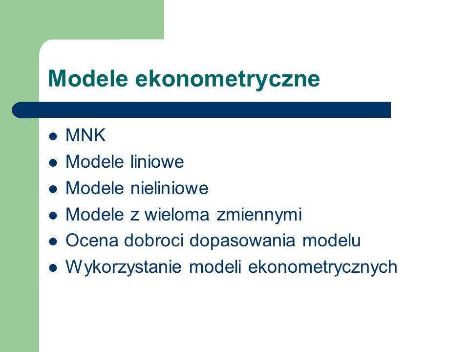 Wprowadzenie 1 Zastosowanie modeli matematycznych do opisu zjawisk ekonomicznych.