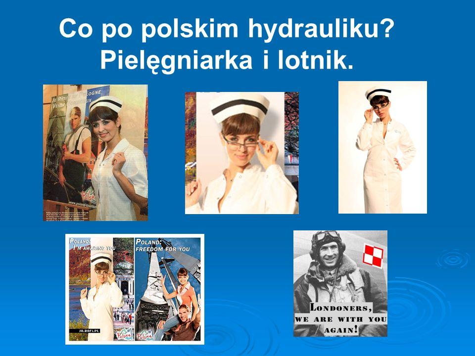 Co po polskim hydrauliku? Pielęgniarka i lotnik.