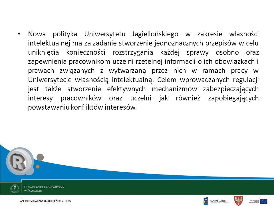 Nowa polityka Uniwersytetu Jagiellońskiego w zakresie własności intelektualnej ma za zadanie stworzenie jednoznacznych przepisów w celu uniknięcia kon