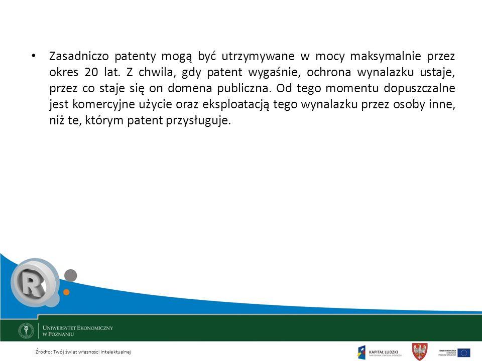 Zasadniczo patenty mogą być utrzymywane w mocy maksymalnie przez okres 20 lat. Z chwila, gdy patent wygaśnie, ochrona wynalazku ustaje, przez co staje