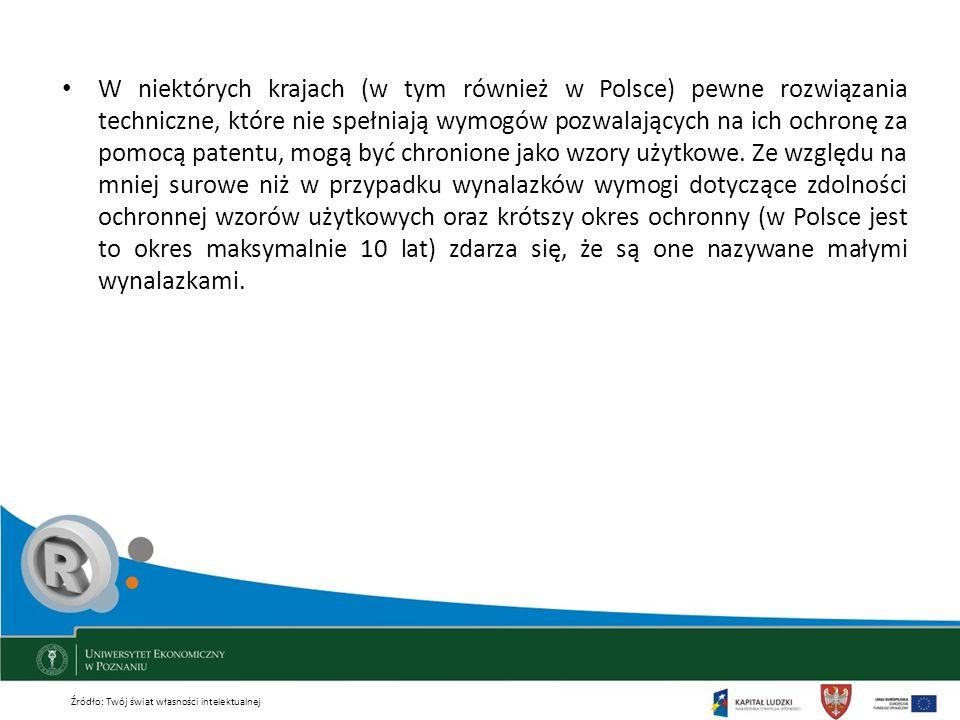 W niektórych krajach (w tym również w Polsce) pewne rozwiązania techniczne, które nie spełniają wymogów pozwalających na ich ochronę za pomocą patentu