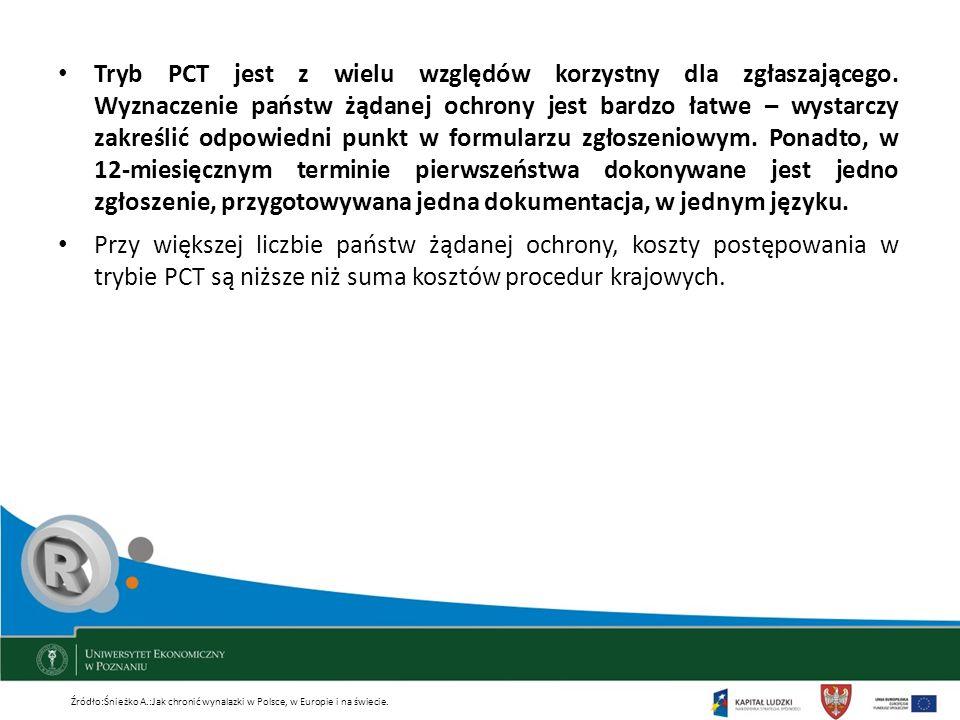 Tryb PCT jest z wielu względów korzystny dla zgłaszającego. Wyznaczenie państw żądanej ochrony jest bardzo łatwe – wystarczy zakreślić odpowiedni punk