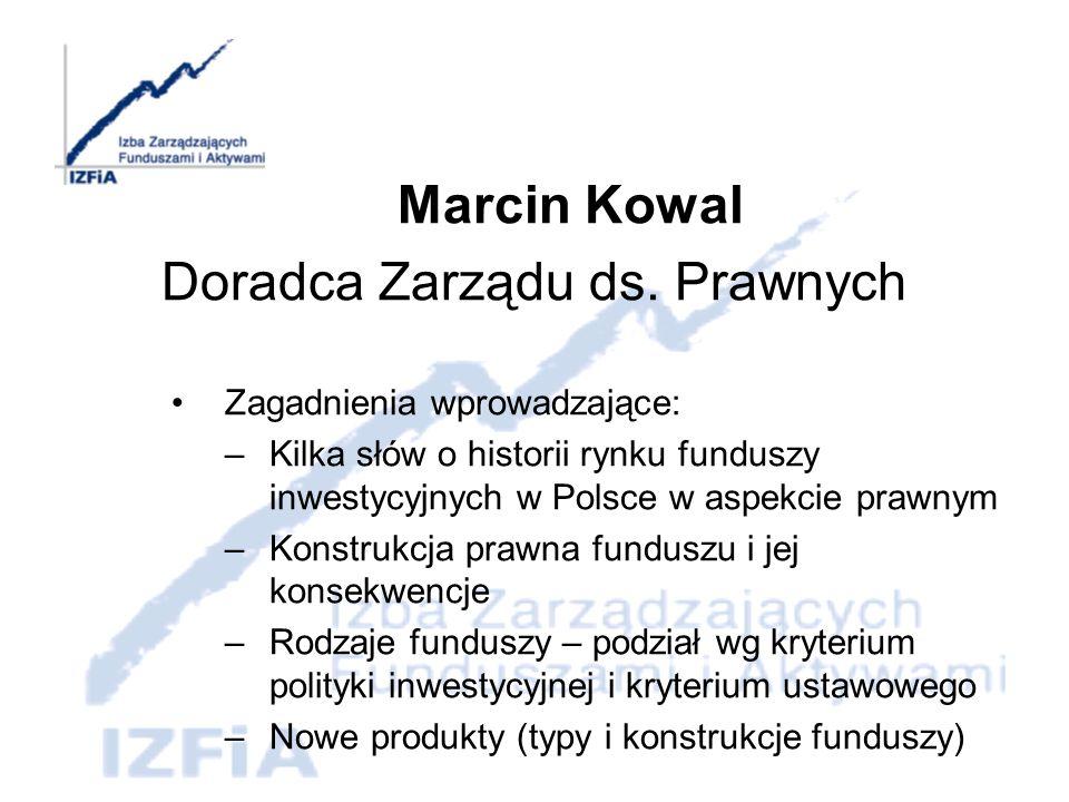 Regulacje prawne dotyczące funduszy inwestycyjnych Ustawa z dnia 22 marca 1991 r.