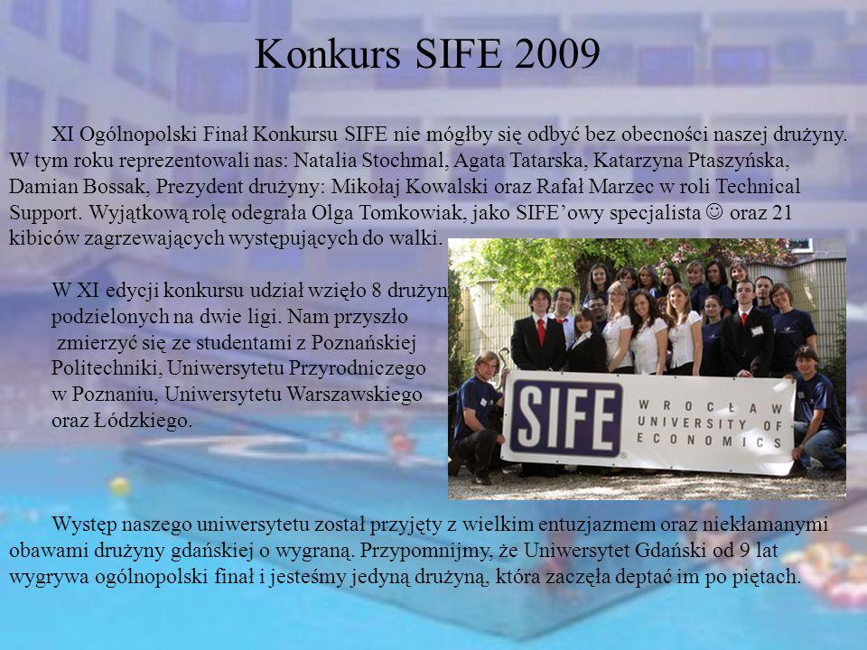 XI Ogólnopolski Finał Konkursu SIFE nie mógłby się odbyć bez obecności naszej drużyny. W tym roku reprezentowali nas: Natalia Stochmal, Agata Tatarska