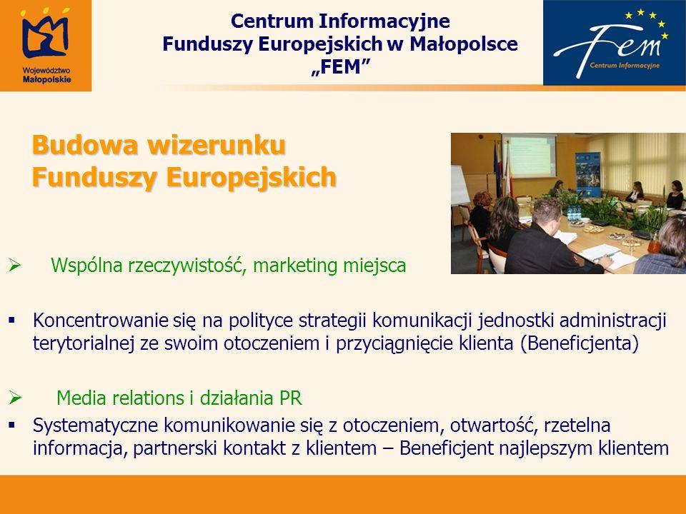 Budowa wizerunku Funduszy Europejskich Wspólna rzeczywistość, marketing miejsca Koncentrowanie się na polityce strategii komunikacji jednostki adminis