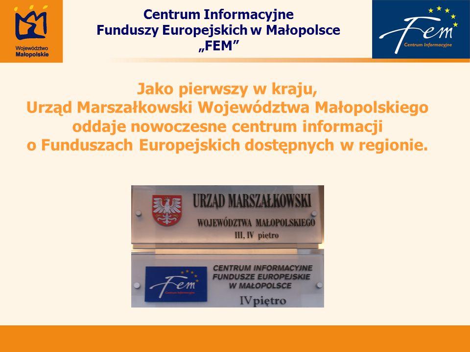 Jako pierwszy w kraju, Urząd Marszałkowski Województwa Małopolskiego oddaje nowoczesne centrum informacji o Funduszach Europejskich dostępnych w regio