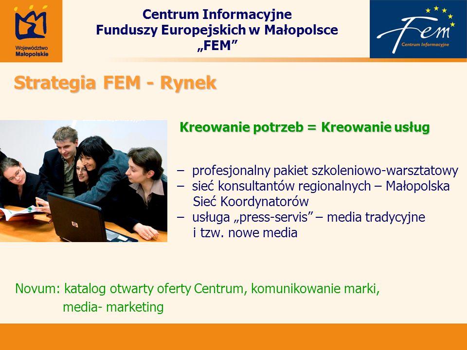 Centrum Informacyjne Funduszy Europejskich w Małopolsce FEM – profesjonalny pakiet szkoleniowo-warsztatowy – sieć konsultantów regionalnych – Małopols