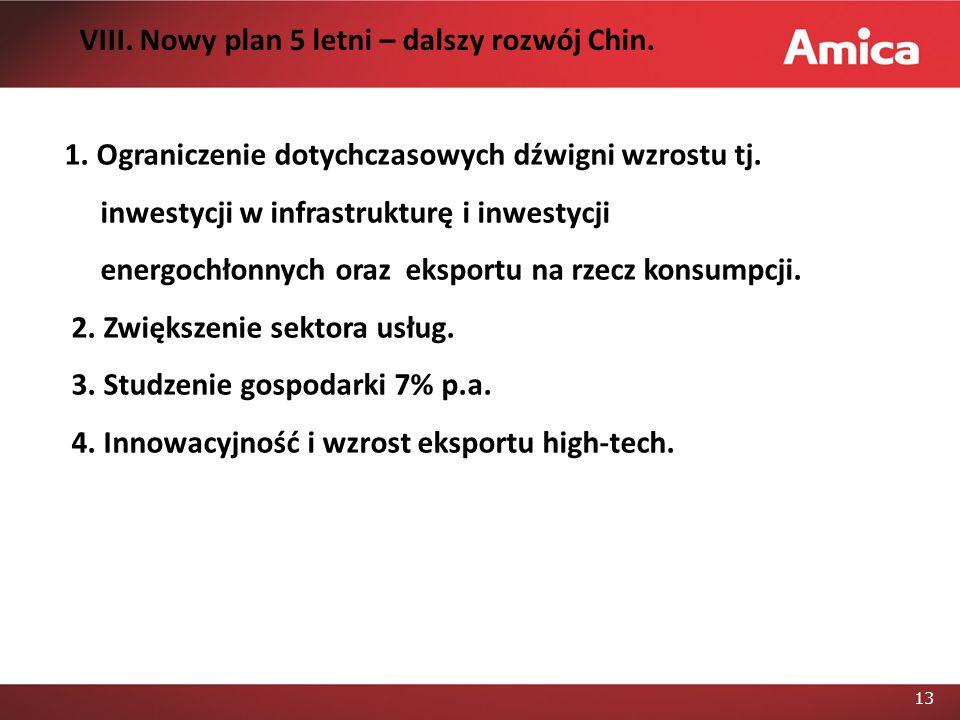 14 VIII.Nowy plan 5 letni – dalszy rozwój Chin. 5.