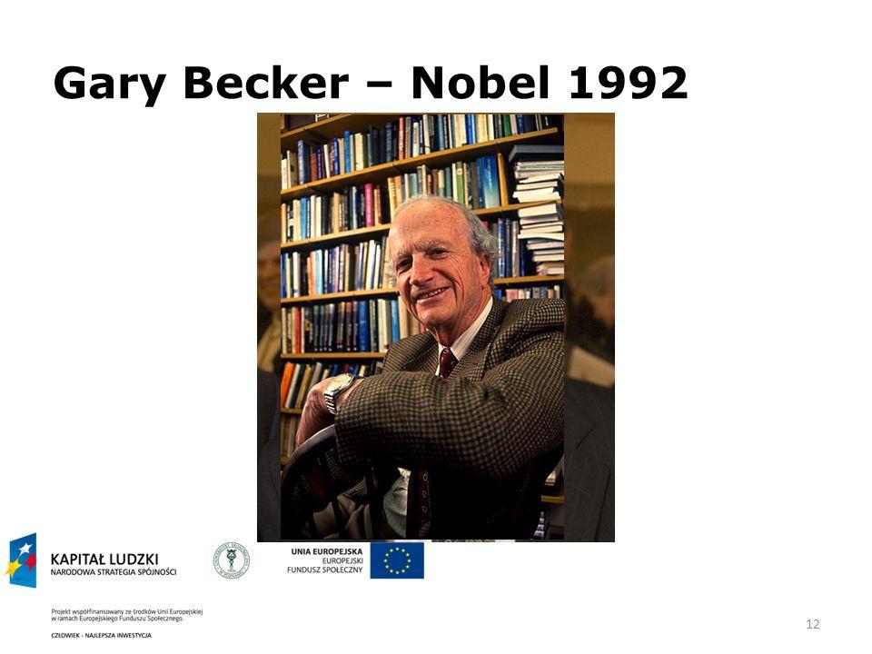 12 Gary Becker – Nobel 1992