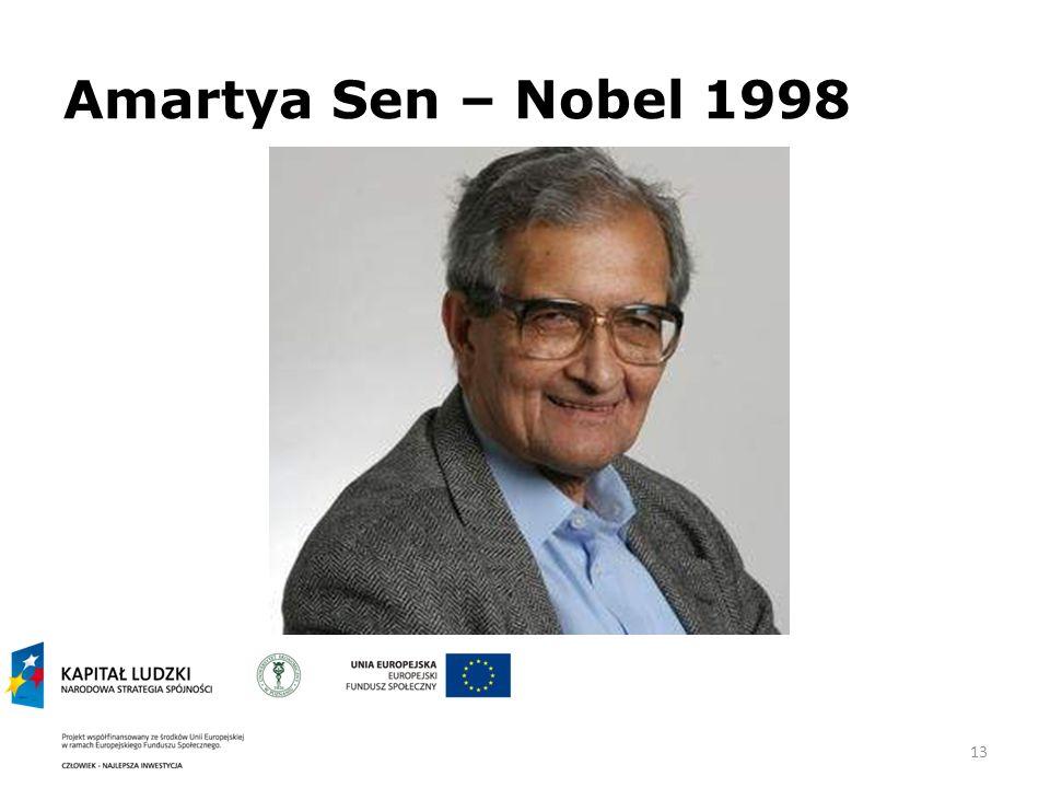 13 Amartya Sen – Nobel 1998