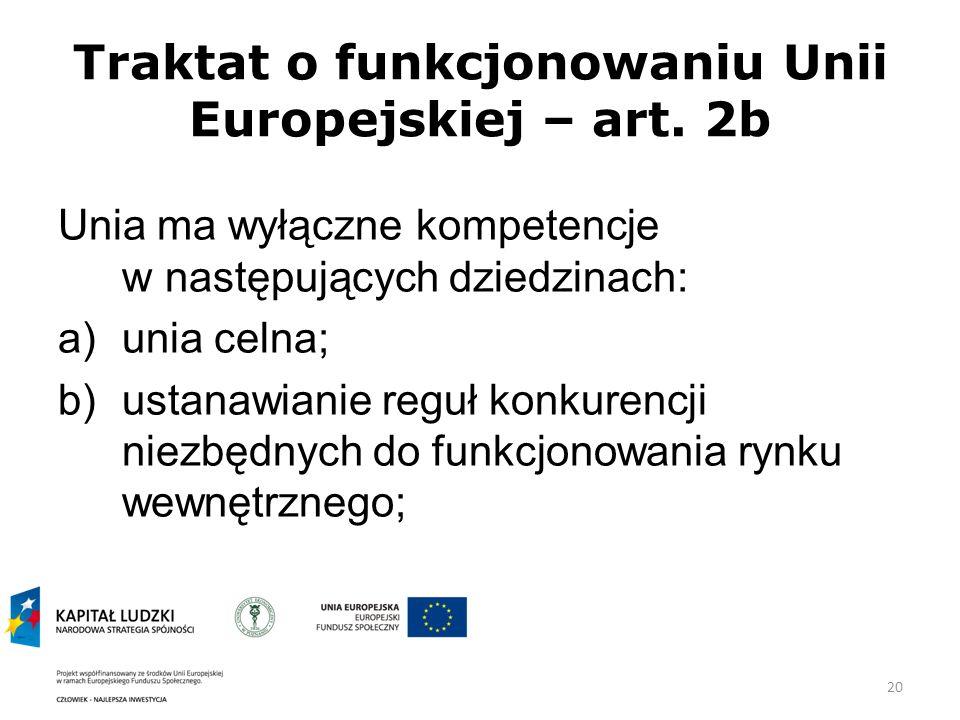 20 Traktat o funkcjonowaniu Unii Europejskiej – art.