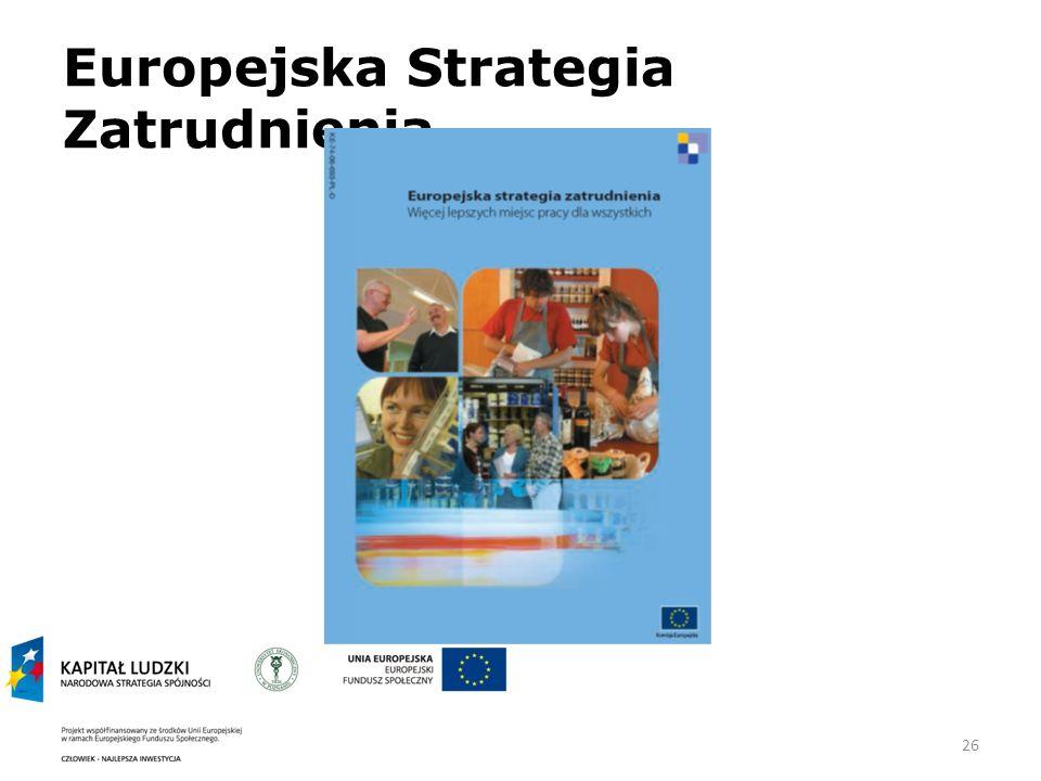 26 Europejska Strategia Zatrudnienia