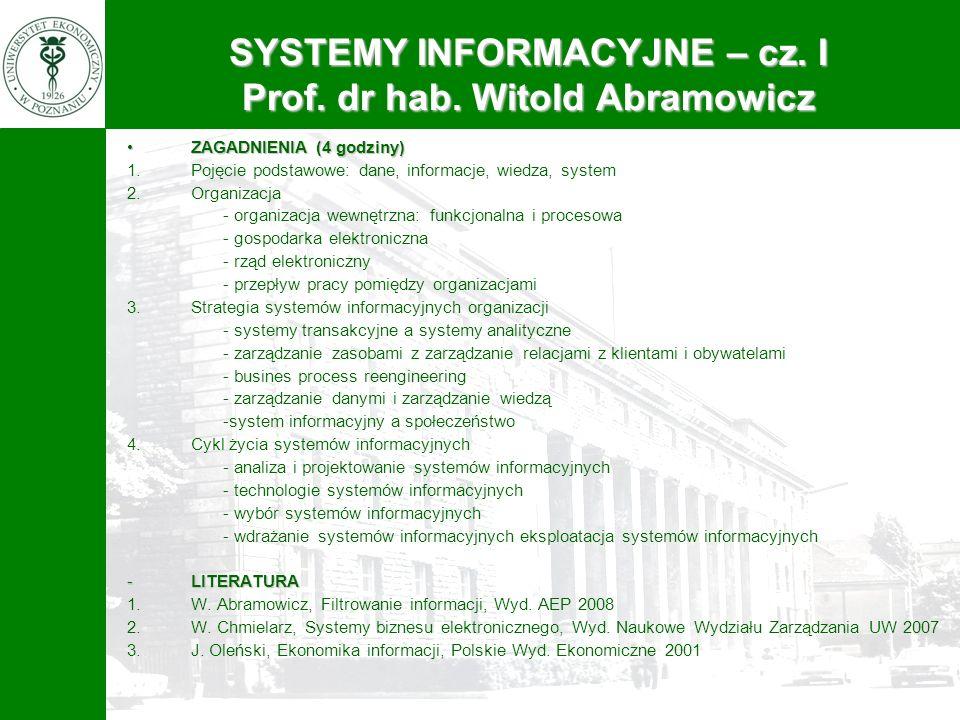 ZAGADNIENIA (4 godziny)ZAGADNIENIA (4 godziny) 1.Pojęcie podstawowe: dane, informacje, wiedza, system 2.Organizacja - organizacja wewnętrzna: funkcjon