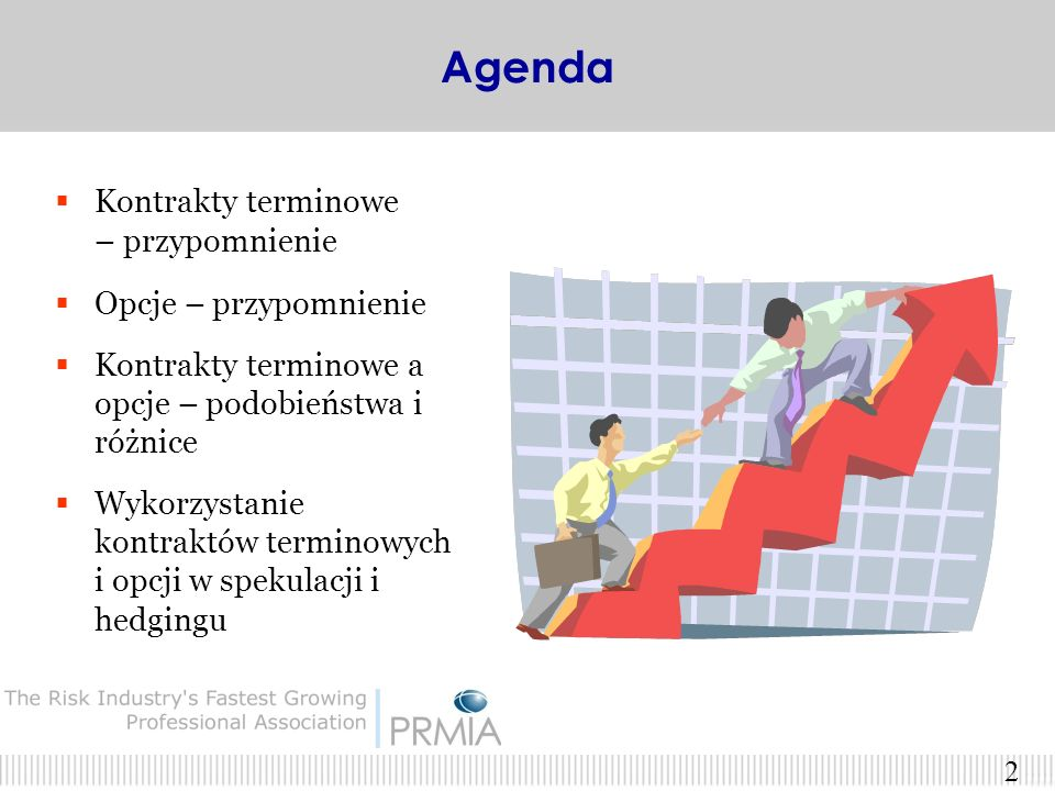 Kontrakty terminowe i opcje na WIG20 - zastosowanie w hedgingu i spekulacji Tadeusz Gudaszewski, Wojciech Gudaszewski Wojciech Wasilewski PRMIA Polska