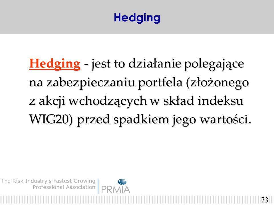72 HEDGING HEDGING -przykłady