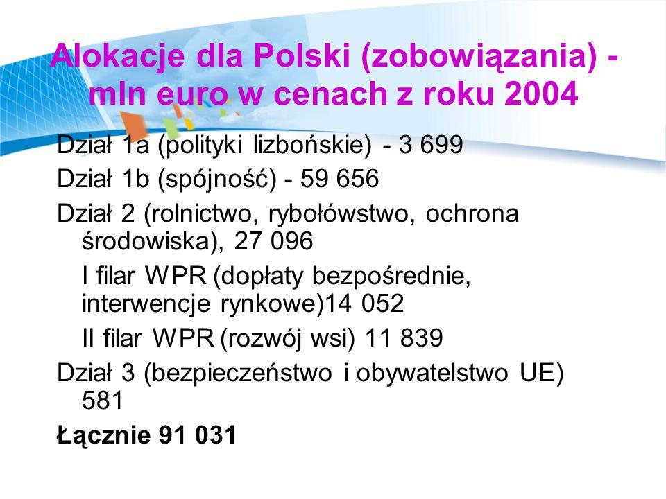 Polska największym beneficjentem - polityki spójności Transfery dla Polski na tle innych krajów UE – polityka spójności ok.