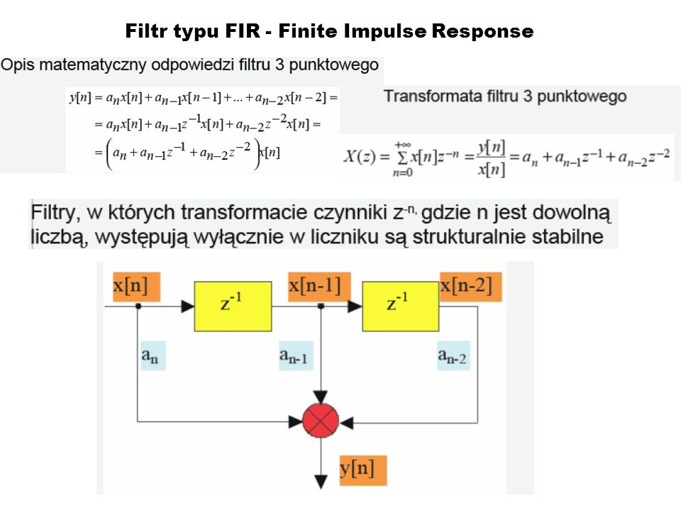Filtr typu FIR - Finite Impulse Response