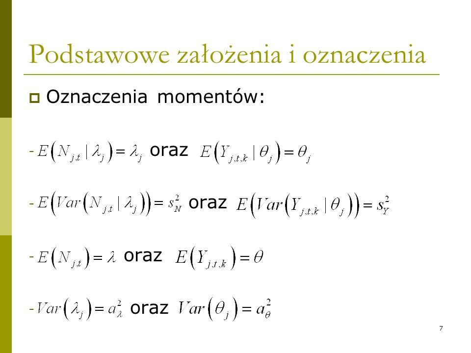 7 Podstawowe założenia i oznaczenia Oznaczenia momentów: - oraz