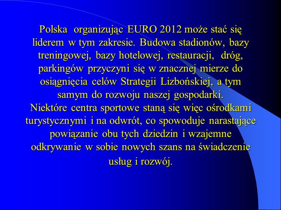 Polska organizując EURO 2012 może stać się liderem w tym zakresie.