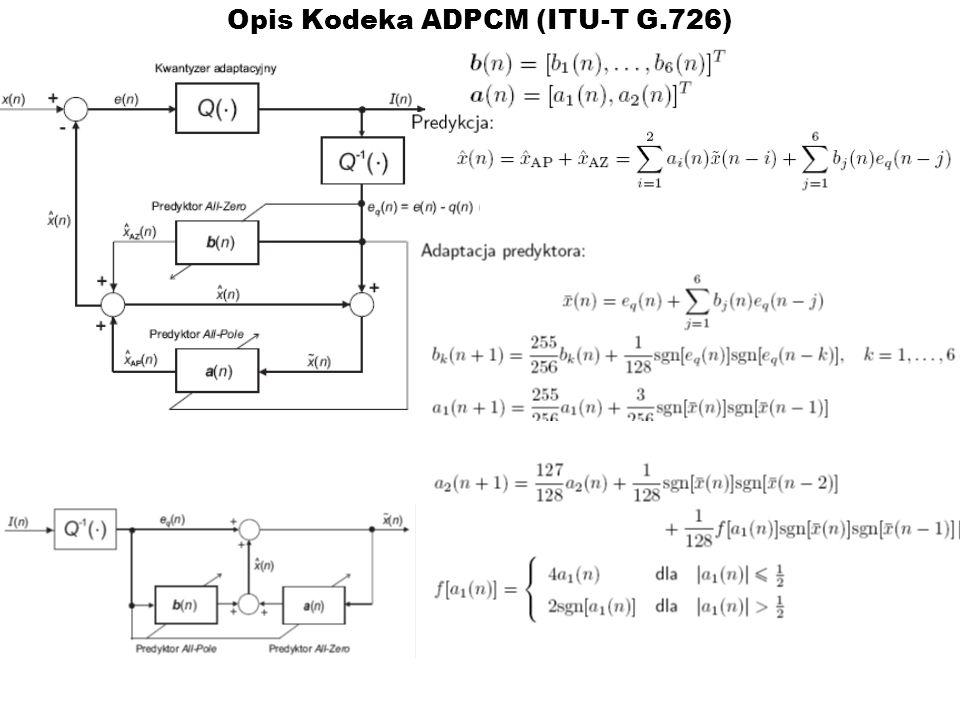 Opis Kodeka ADPCM (ITU-T G.726)